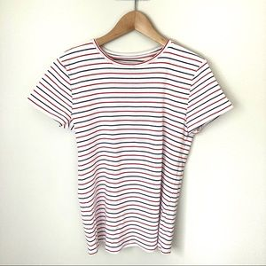 Joe Fresh Striped Cotton Short Sleeve Tee